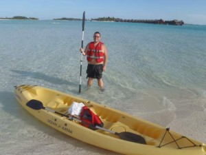 This pic was taken in May last year when we were in the Maldives. First time in a Kayak.