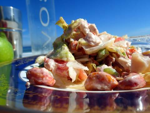 Photographed on Pringle Bay beach, this chicken salad is great for picnic meals.