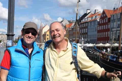 JP and I at Nyhavn, Copenhagen