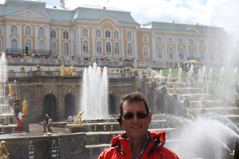 At Peterhof, Peter the Great's summer palace in St Petersburg.