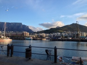 Brilliant Table Mountain views from Den Anker.