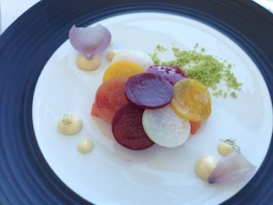 The cured trout at Waterkloof was the only dish that impressed me.
