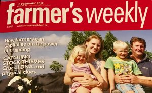 Carried as a cover story in Farmer's Weekly Magazine, February 7, 2017