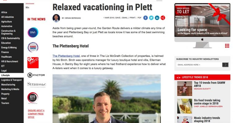 Relaxed vacationing in Plett.