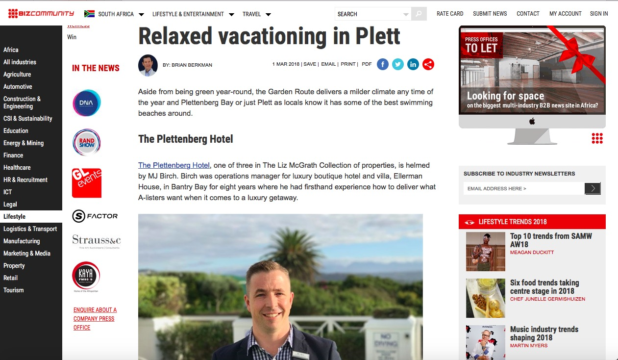 Relaxed vacationing in Plett.