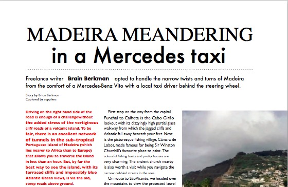 Madeira Meandering in a Mercedes.