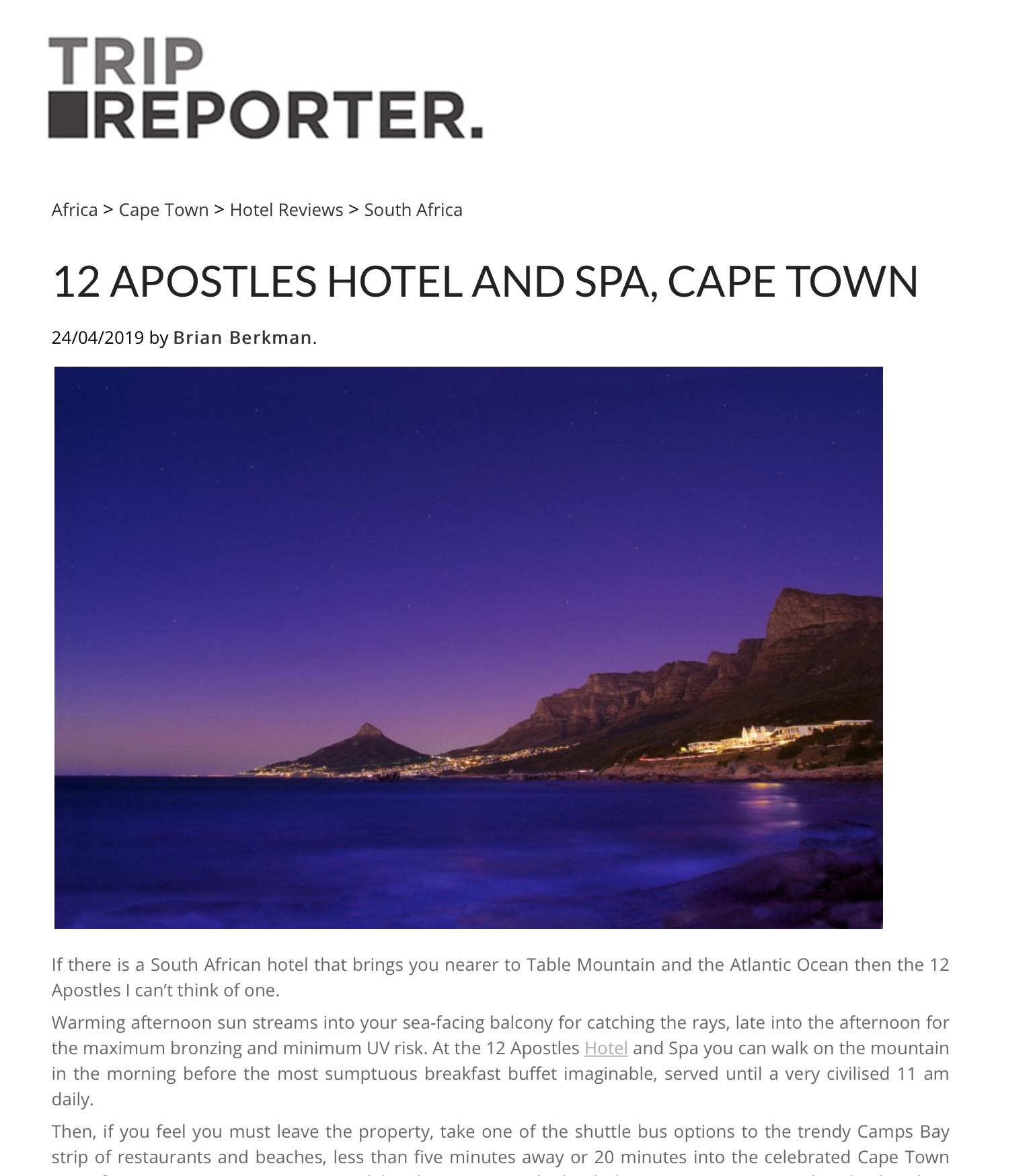 12 Apostles Hotel and Spa on TripReporter.co.uk