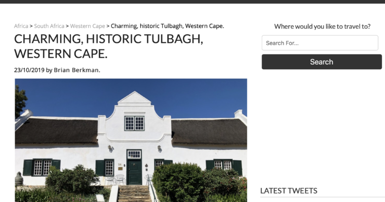 Historic Tulbagh, 50 years after the quake