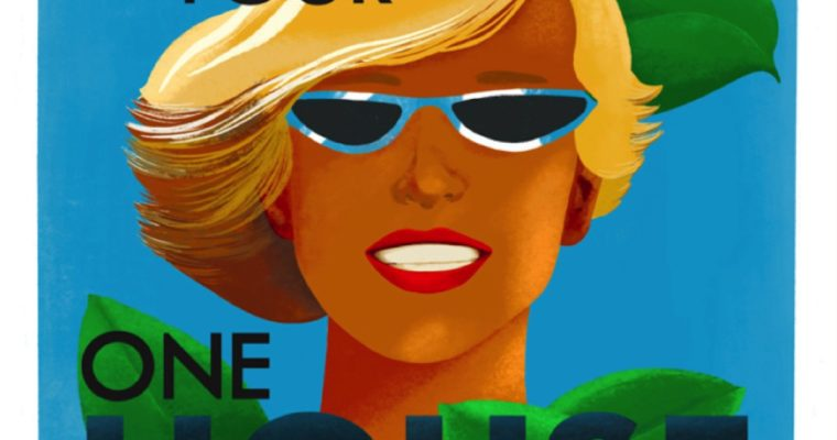 Covid-19 take on vintage travel posters
