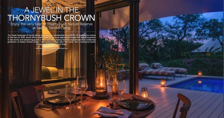 Saseka Tented Camp in Premier Magazine