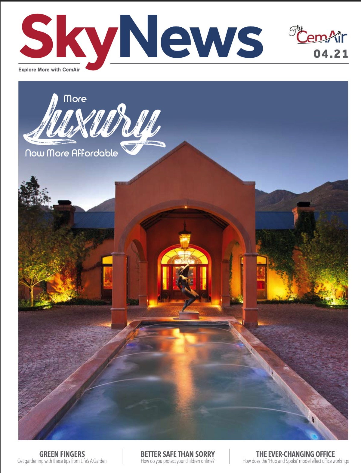 La Residence in Franschhoek is the cover story in April 2021